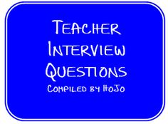 resources to help with teacher interviews in one place!