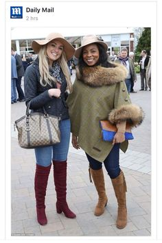 Beautiful Fairfax & Favor Regina heeled boots in tan. A client I helped going to Cheltenham Festival.