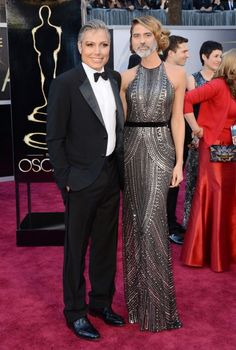 Oscar-Switch George-Clooney and Stacey Keibler