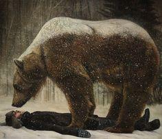 Christer Karlstad, Norwegian figurative painter. 'Cold Comfort' / oil on canvas
