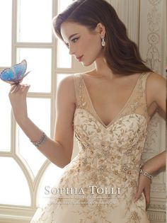 Stunning wedding dresses by Sophia Tolli Spring 2016. A beutiful bridal collection of gowns featuring fashion masterpieces.