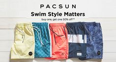 3bf0ae2bb1 Buy One Get One 50% Off Swim Styles Matter at #PacSun #Fashion #Clothing # Shorts #Beach #Styles