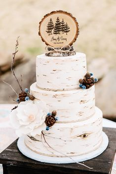 Top 20 Gorgeous Wedding Cakes for Fall 2018 &; Page 3 of 3 &; Oh Best Day Ever Top 20 Gorgeous Wedding Cakes for Fall 2018 &; Page 3 of 3 &; Oh Best Day Ever Lisa […] Wedding cakes Deco Wedding Cake, Wedding Cake Rustic, Wedding Cakes With Cupcakes, Wedding Cake Designs, Wedding Reception, Wedding Ideas, Wedding Venues, Cake Topper Wedding, Country Wedding Cake Toppers