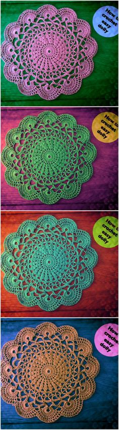 Beautiful Easy To Make Doily Crochet. Step By Step Guided Video Tutorial From CrochetedWorld.