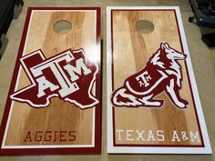 Cornhole Boards Custom Hand Painted by TheUnemployedProject