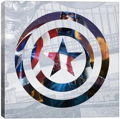 Captain America's Shield II Gallery-Wrapped Canvas Print