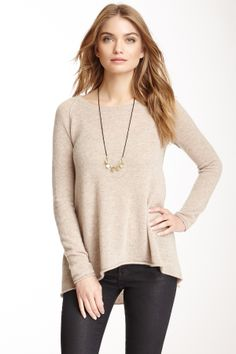 Cashmere Cozy Swing Sweater//