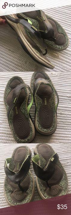 26214b7d3fe0 REEBOK EasyTone Flip II Sandal SIZE 8 Brown Mint Like new condition Women s  EasyTone Flip