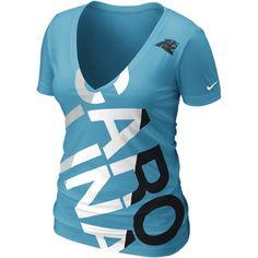 Nike Off-Kilter Tri-Blend NFL Carolina Panthers Women's T-Shirt -... ($32) ❤ liked on Polyvore