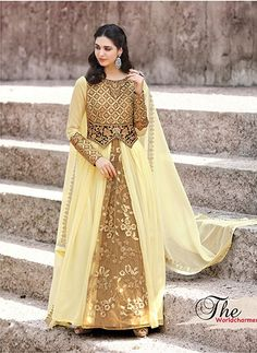 0f0a2cd340327 sethnic cream golden handwork suits 2205 ethnic collection