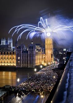 Happy New Year 2014 South Bank, London - England (von Jon Cartwright)