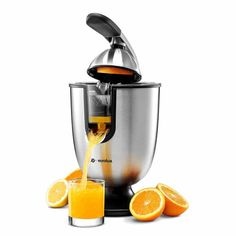 Amazing offer on Eurolux Electric Citrus Juicer Squeezer, Orange, Lemon, Grapefruit, Stainless Steel 160 Watts Power Soft Grip Handle Cone Lid Easy Use online - Trendyclothingonline Specialty Appliances, Small Appliances, Kitchen Appliances, Fruit Juicer, Citrus Juicer, Kitchen Items, Kitchen Gadgets, Kitchen Dining, Juicer Reviews