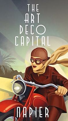 Art Deco poster  Avant guard art for its time. women could have their own cycles without having to have a man with them!