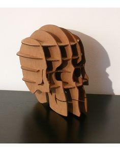 Skull cardboard art