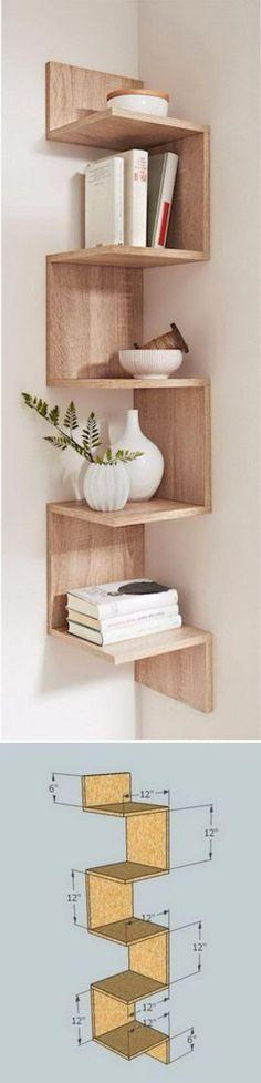 A Unique Corner Zigzag Shelf