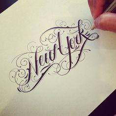 New York #font #lettering #typography #design