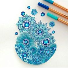 Image de drawing, art, and blue