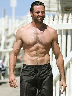 HUGH JACKMAN, so if Im gonna post half naked men, lets start with him..