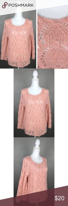 Ya Los Angeles Oversized Boho Crochet Sweater Pink NEW with tags!! Has brand name tag attached but not a price tag.