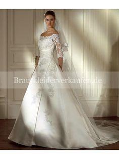 Spitzenärmel Hochzeitskleid Wedding Gowns With Sleeves, Long Sleeve Wedding, White Wedding Dresses, Designer Wedding Dresses, Bridal Dresses, Bridesmaid Dresses, Dresses With Sleeves, Lace Sleeves, Lace Wedding