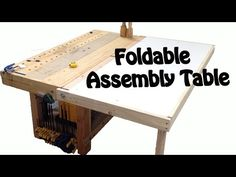 (28) Make a Foldable Assembly table. DIY BUILD - YouTube
