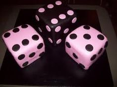A great friend of ours celebrated her birthday by throwing a BUNCO party. For those of you who don't know what BUNCO is. Cake Pops, Dice Tattoo, Games Fo, Bunco Party, Domino Art, Different Shades Of Pink, Game Item, Backrounds, Game Pieces