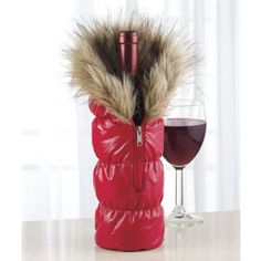 Wine Bottle Parka - Furniture, Home Decor and Home Furnishings, Home Accessories and Gifts | Expressions Bridal Party Gifts!!!!