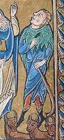 [Collectif de reconstitution de matériels de Terre Sainte au XIIe siècle] : Chape à penne (possible fur capes/hoods from my period, also dagged edges)