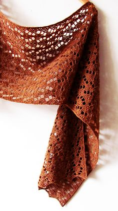 Autumn leaves is a rectangular wrap worked in delicate chevron stitch. Beautiful texture and fine yarn make this scarf a perfect accessory for the early fall! Find this pattern and more crochet inspiration and more inspiration at . Crochet Leaves, Crochet Motifs, Crochet Patterns, Crochet Hats, Knit Crochet, Autumn Crochet, Crochet Wrap Pattern, Chevrons Au Crochet, Crochet Shawls And Wraps