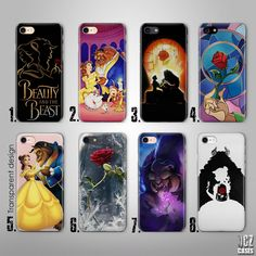 Beauty And The Beast Disney UV Case Cover for iPhone 4/4s 5/5s/se 6/6s plus 7