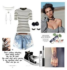 """""""Bez naslova #181"""" by selma-masic1 ❤ liked on Polyvore featuring Theory, Diane Kordas, Converse and MAC Cosmetics"""