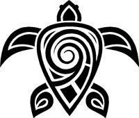Hawaiian Tribal Turtle Decal