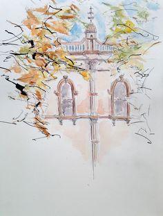 DAY 1   |   30 DAY SKETCH CHALLENGE Webb Chambers, Bathurst   #bathurst #sketchbook #sketch #watercolor