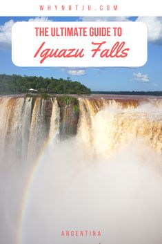 The ultimate guide to visiting Iguazu falls Argentina. But also general info about the area the Iguazu waterfalls and t. Travel Guides, Travel Tips, Budget Travel, Europe Budget, Travel Hacks, Travel Packing, Travel Essentials, Iguazu Waterfalls, Visit Brazil
