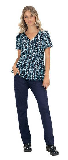 Our all-time best selling print top is flattering for all shapes and sizes. Mock-wrap style with adjustable ties at waist. Two patch pockets Side slits Length size Small - 27 Cotton SKU: Koi Scrubs, Beaded Trim, Beaded Flowers, Wrap Style, Jasmine, Blouse, Cotton, Tops, Fashion