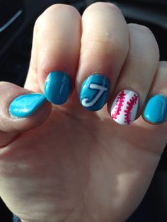 Blue Jays Nails