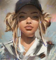 Sophia by aleksei vinogradov digital art цифровой портрет, ц Digital Art Girl, Digital Portrait, Portrait Art, Bd Art, Portrait Illustration, Art Illustrations, Digital Illustration, Cute Drawings, Drawing Faces
