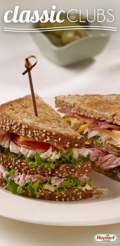 Dig into a tasty sandwich filled with Hormel® chunk meats and bacon.