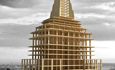 Using the Empire State Building as their second Plan B model, the Metsä Wood team used wood as the main building material, creating an all-wood version of the same size and the basic structure as the famed Empire State Building.