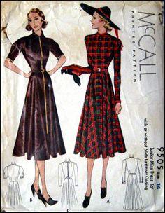 McCall 9505 | 1937 Junior Miss Dress