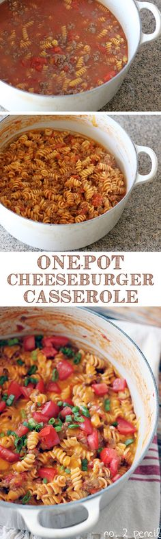 One-Pot Cheeseburger Casserole ~T~ Love this easy dinner. Everything is done on the stove in one pot. Could use ground turkey if you want. Simple and family friendly.