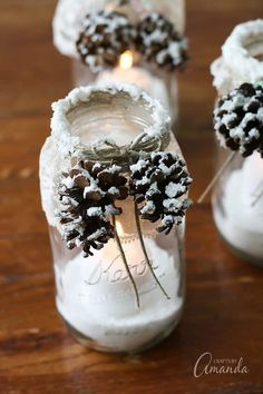 The Best DIY Farmhouse Dollar Store Christmas Hacks Ever! - The Cottage Market The Best DIY Farmhouse Dollar Store Christmas Hacks Ever! - The Cottage Market Mason Jar Christmas Crafts, Christmas Crafts For Adults, Dollar Tree Christmas, Christmas On A Budget, Christmas Hacks, Christmas Candles, Mason Jar Crafts, Christmas Decorations, Holiday Decorating