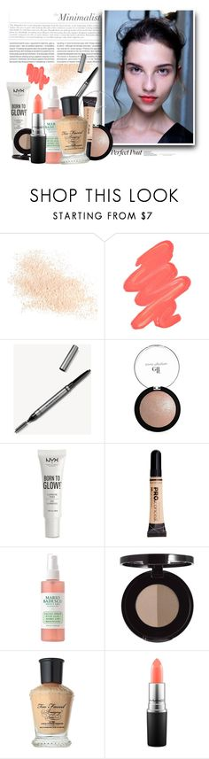 """""""The Minimalist"""" by uncharged-batteries ❤ liked on Polyvore featuring beauty, Eve Lom, Obsessive Compulsive Cosmetics, Oris, Burberry, NYX, Too Faced Cosmetics and MAC Cosmetics"""