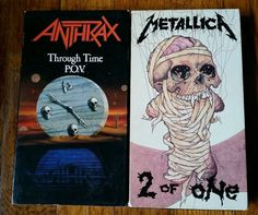 Lot of 2 Heavy Metal VHS tapes #Anthrax Through Time P.O.V. #Metallica 2 of One