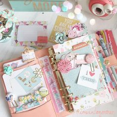 Planner, shabby chic, pretty, paper clips, Filofax, kikki k, filofaxing, planner love