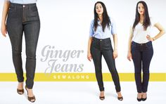 Welcome to the Ginger Jeans Sewalong Page! Read all about how this pattern came to be here. This is an in-depth guide to making your own jeans, giving you the skills and confidence necessary to tac. Sewing Jeans, Sewing Clothes, Fashion Sewing, Diy Fashion, Sewing Tutorials, Sewing Tips, Sewing Projects, Sewing Patterns, Patterned Jeans