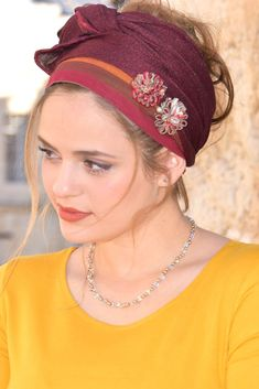 Happy Flowers Wrap Headband Tichel, Soft and comfortable Bandana ,Snood, Chemo Loss hair, For women Tie Headband, Lace Headbands, How To Wrap Flowers, Lace Flowers, Hippie Vintage, Hair Turban, Modest Wear, Happy Flowers, Handmade Scarves