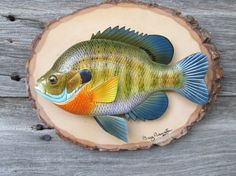 Hand carved bream (o