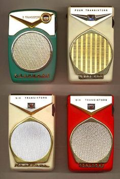 "Realtones TR-861, TR-555 ""Galaxy,""and TR-801 ""Electra"" pocket transistor radios"