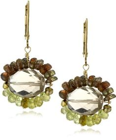 "Eva Hanusova ""Harvest"" Garnet and alucite Smoky Quartz Earrings Eva Hanusova. $81.99. Made in United States. Handmade. Faceted gems"